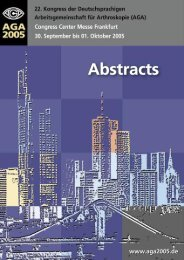 Abstracts 2005 als PDF - AGA-Kongresse