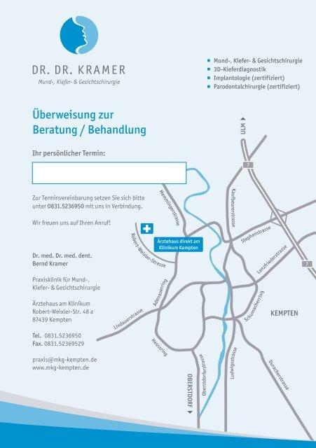 Überweisungsformular zum Download - Dr. med. Dr. med. dent ...