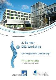 2. Bonner DRG-Workshop - Klinik für Orthopädie und Unfallchirurgie ...