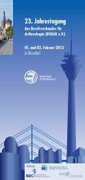 23. Jahrestagung - Deutsche Gesellschaft für Unfallchirurgie