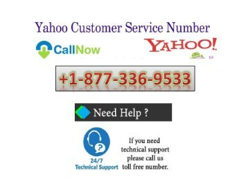 Yahoo Customer Service Number USA +1-877-336-9533
