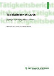 Tätigkeitsbericht 2006 - Ärztekammer Nordrhein