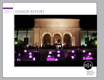 DONOR REPORT 2011 - DIA Home