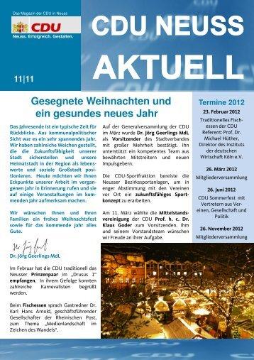 Termine 2012 - Die CDU in Neuss