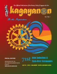 71st KAGAYANON INDUCTION ISSUE July 01, 2018