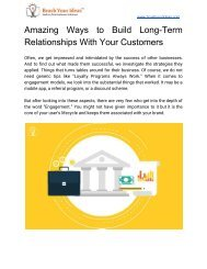 Amazing Ways to Build Long-Term Relationships With Your Customers