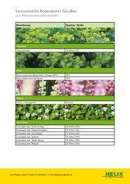 finden Sie unser Topfpflanzensortiment - Helix Pflanzen