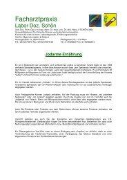 Jodarme Ernährung - Facharztpraxis Labor Doz. Schön