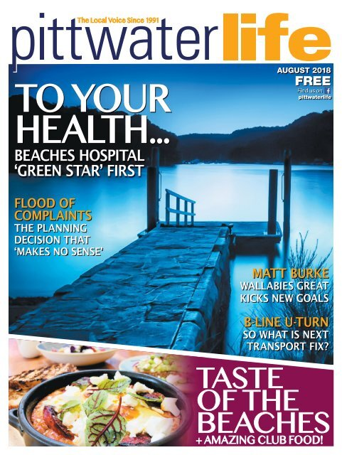 Pittwater Life August 2018 Issue