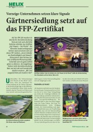 Gärtnersiedlung setzt auf das FFP-Zertifikat - Helix Pflanzen
