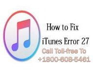 Call +1-800-608-5461 Fix iPhone Error 27