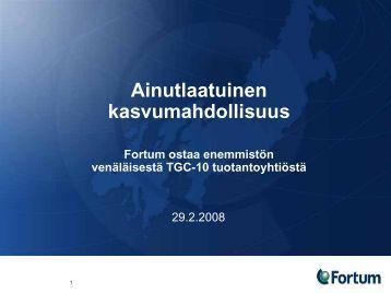 Fortum TGC-10 info
