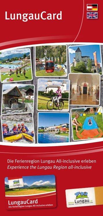 LungauCard Broschüre - Ferienregion Lungau