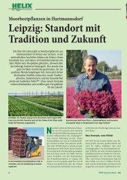 Leipzig: Standort mit Tradition und Zukunft - Helix Pflanzen