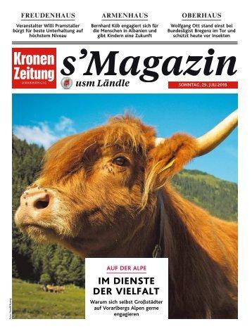 s'Magazin usm Ländle 29. Juli 2018