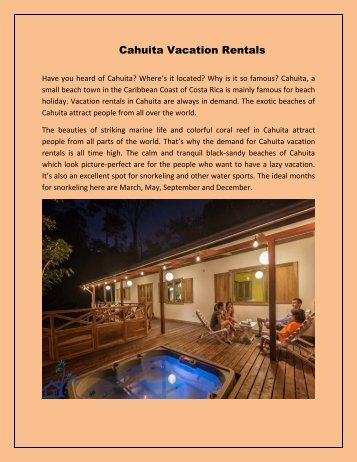 Cahuita Vacation Rentals