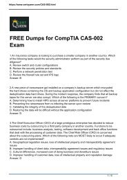 CompTIA CASP CAS-002 Questions and Answers | New CAS-003 Available