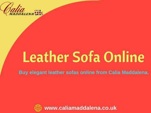 Buy Leather Sofa Online with best price-Calia Maddalena