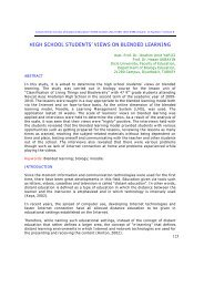HIGH SCHOOL STUDENTS'VIEWS ON BLENDED LEARNING