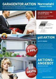 GARAGENTOR AKTION AKTIONs- ANGEbOT
