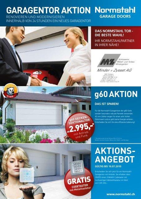 GARAGENTOR AKTION AKTIONs- ANGEbOT