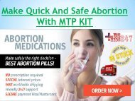 MTP KIT For Pain-Free Ending Of Accidental Pregnancy