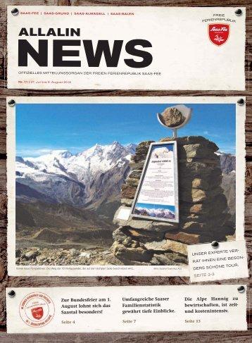 Allalin News Nr. 11/2018