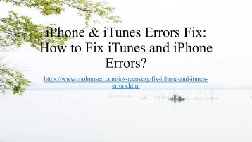 How to Fix iTunes and iPhone Errors