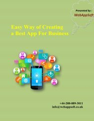 Easy Way of Creating a Best App for Business