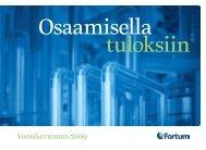 Vuosikertomus 2009 - Fortum