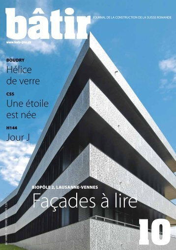 bâtir pratique - Le journal romand de la construction
