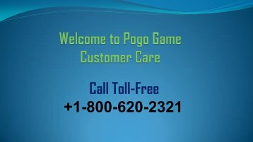Get help for Pogo games with Pogo games Customer care +1-800-620-2321