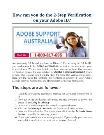 How can you do the 2-Step Verification on your Adobe ID?