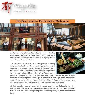 Best Japanese Restaurant Melbourne