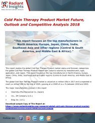 Cold Pain Therapy Product Market Future, Outlook and Competitive Analysis 2018
