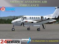 Low Budget and quick Service of Medivic Aviation Air ambulance in Bagdogra
