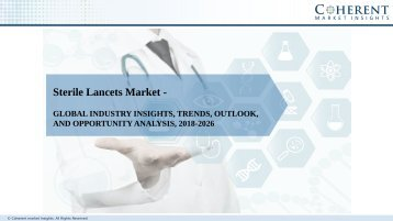 Sterile Lancets Market - Size, Share, Growth and Outlook, Analysis, 2018-2026