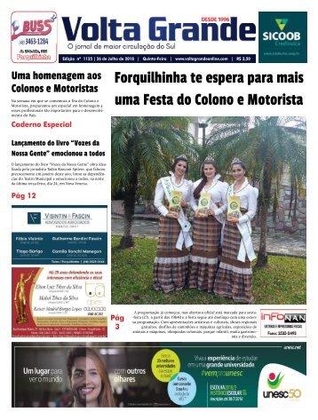 Jornal Volta Grande - Edição 1125 - Forquilhinha e Nova Veneza