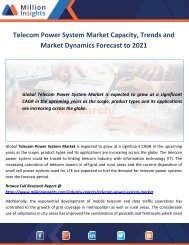 Telecom Power System Market Capacity, Trends and Market Dynamics Forecast to 2021