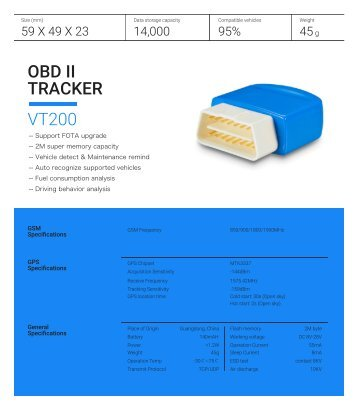 OBD GPS Tracker for Car VT200 – A One Stop Solution for all Vehicle Safety Issues