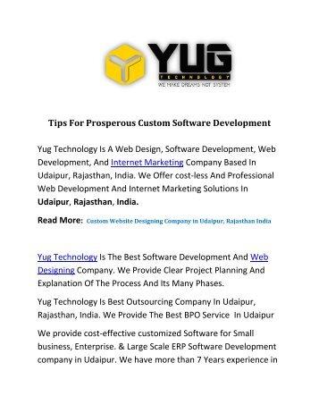 Tips For Prosperous Custom Software Development