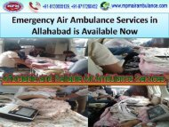 Now Advanced Air Ambulance Services in Allahabad is Available at Low Cost