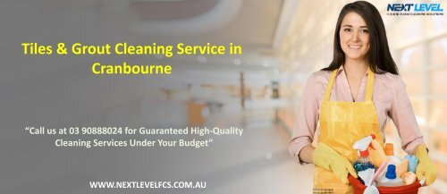 Tile & Grout Cleaning Service in Cranbourne