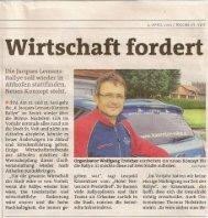 Wirtschaft fordert - Jacques Lemans St. Veit-Kärnten-Rallye