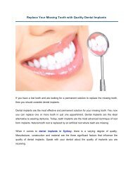 Replace Your Missing Tooth with Quality Dental Implants