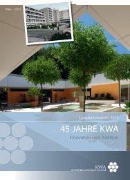 Geschäftsbericht 2011 - KWA - Kuratorium Wohnen im Alter