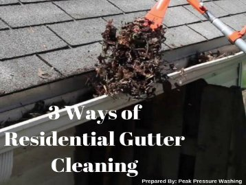 3 Ways of Residential Gutter Cleaning in Raleigh NC by Peak Pressure Washing