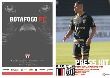 PRESS KIT: Botafogo x Operário (PR) - Camp. Brasileiro Série C - 25/07/2018
