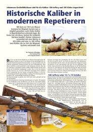 Historische Kaliber in modernen Repetierern - Reimer Johannsen ...