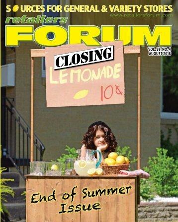 Retailers Forum Magazine - August 2018